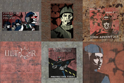 Red Faction - ALL Ultor Agitation Posters