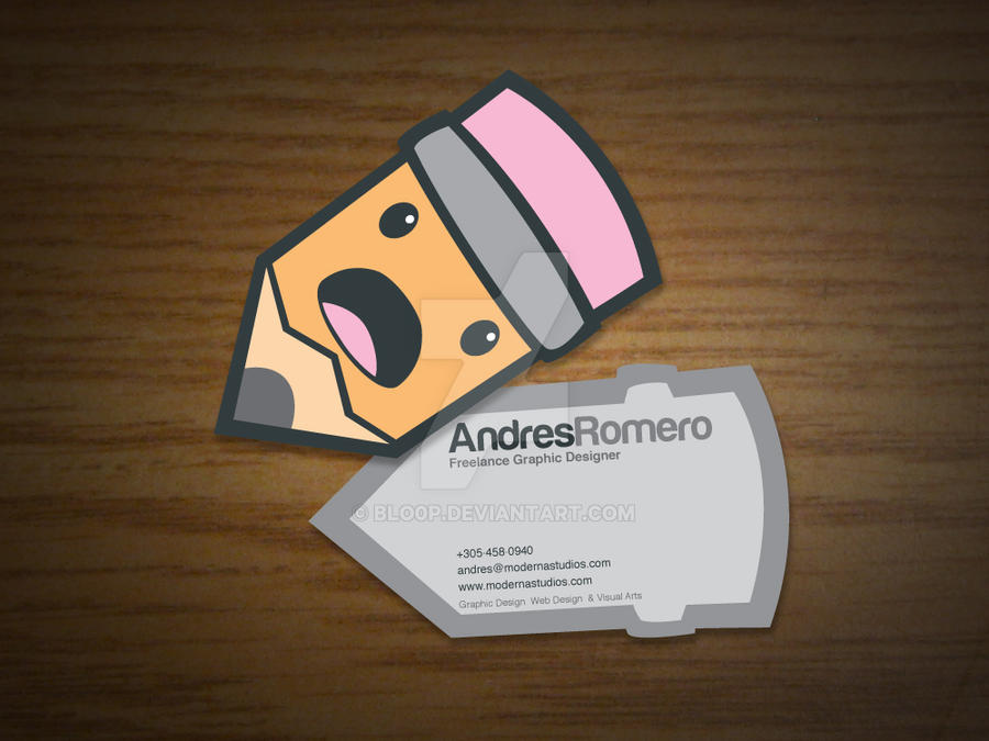 My business card by blo0p on deviantart for My business card