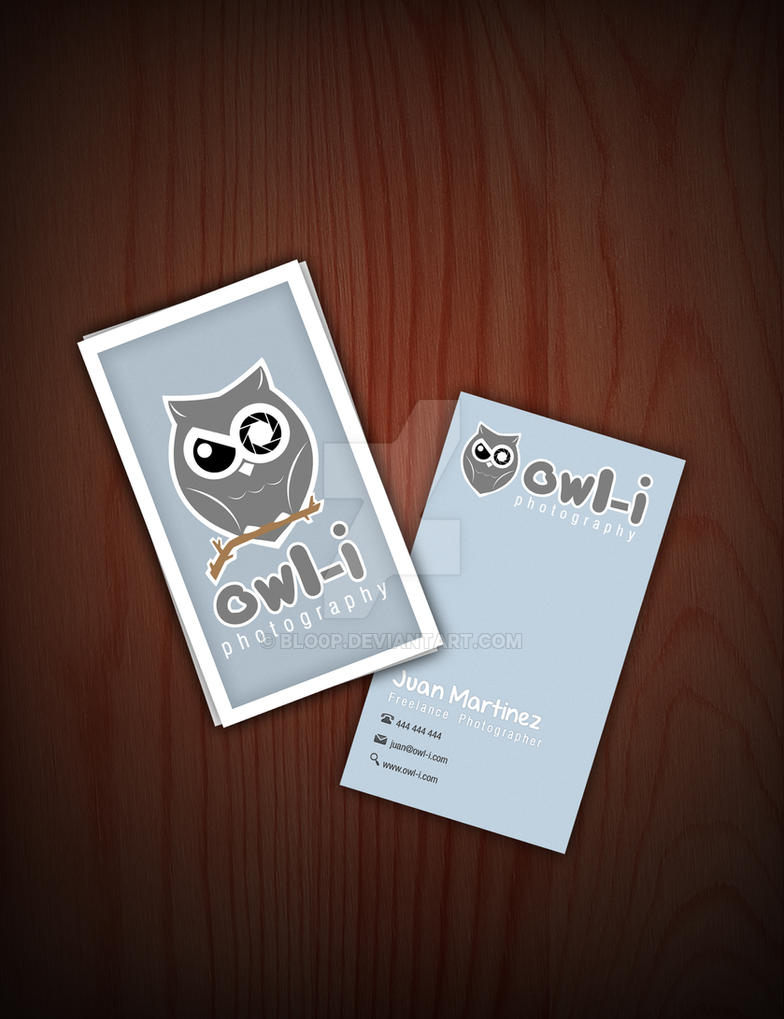 Owl-i Business Cards by blo0p on DeviantArt