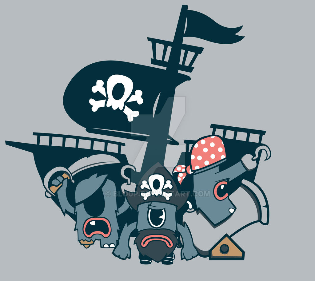 One Eyed Pirates by blo0p