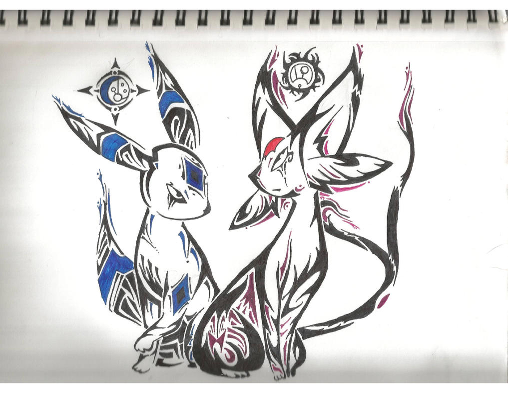 Umbreon And Espeon Tattoos by Heliophobiant on DeviantArt