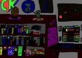 Alien room, dark