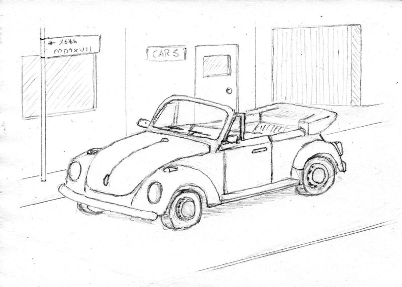 sketch vw beetle cabrio by mamabali on deviantart