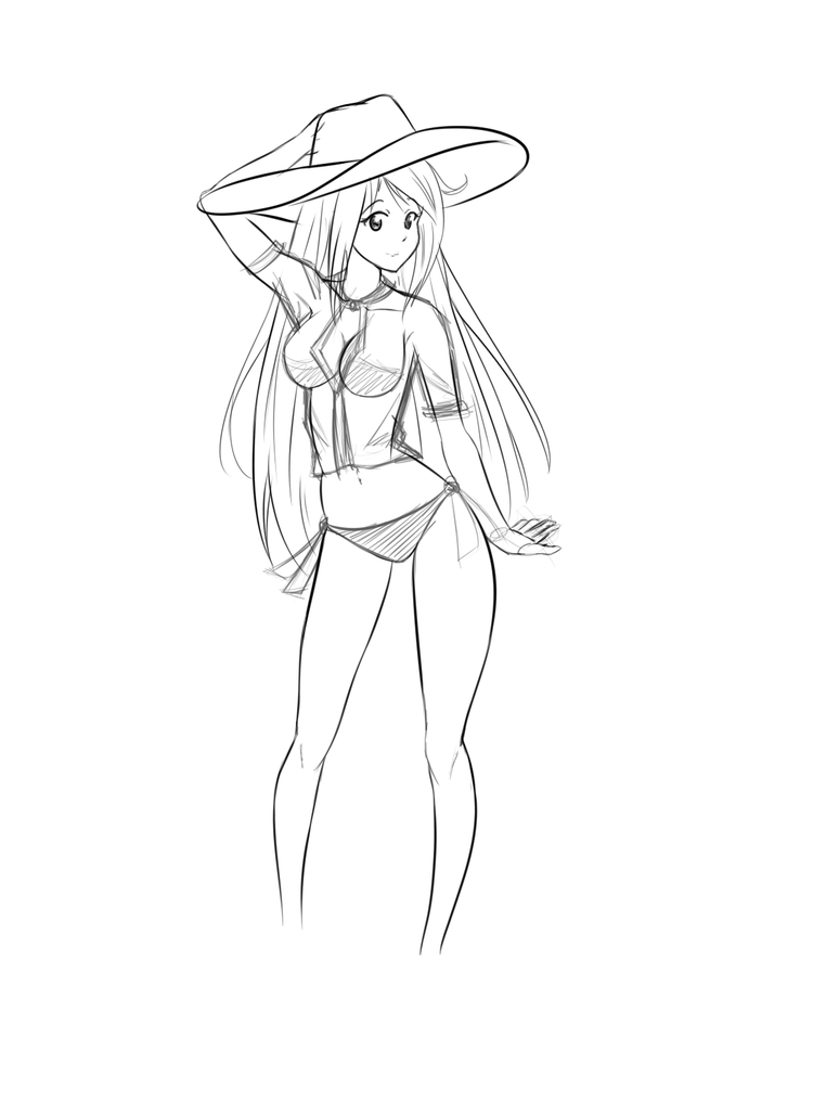 Sketch: Hat thing... by DantemaruXXX