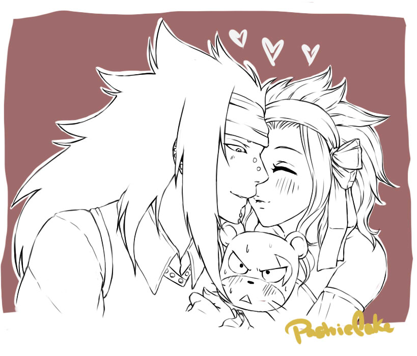 Squishy Lily kiss *Gajeel x Levy week* by PastrieCake on ...