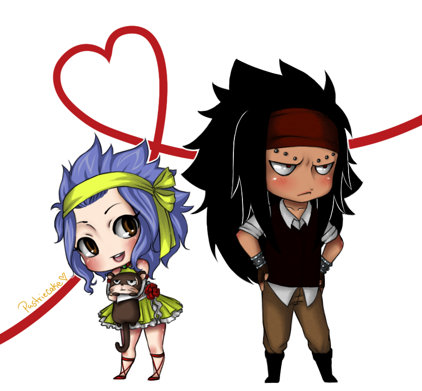 Levy Gajeel and Lily Chibi by PastrieCake on DeviantArt