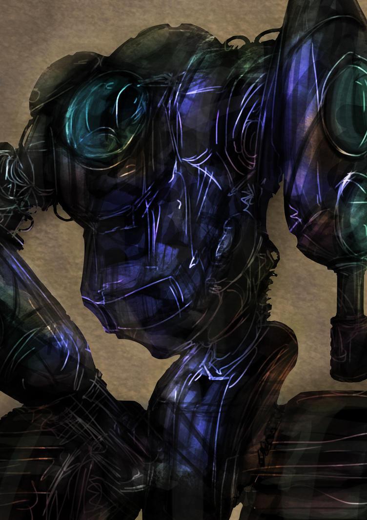 Speedpaint Practice- Robobobo by SleepyOctopus