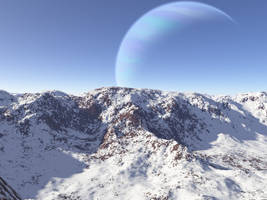 Gas Giant Ice Moon by extrasolar