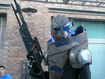 Some dude as Garrus SDCC