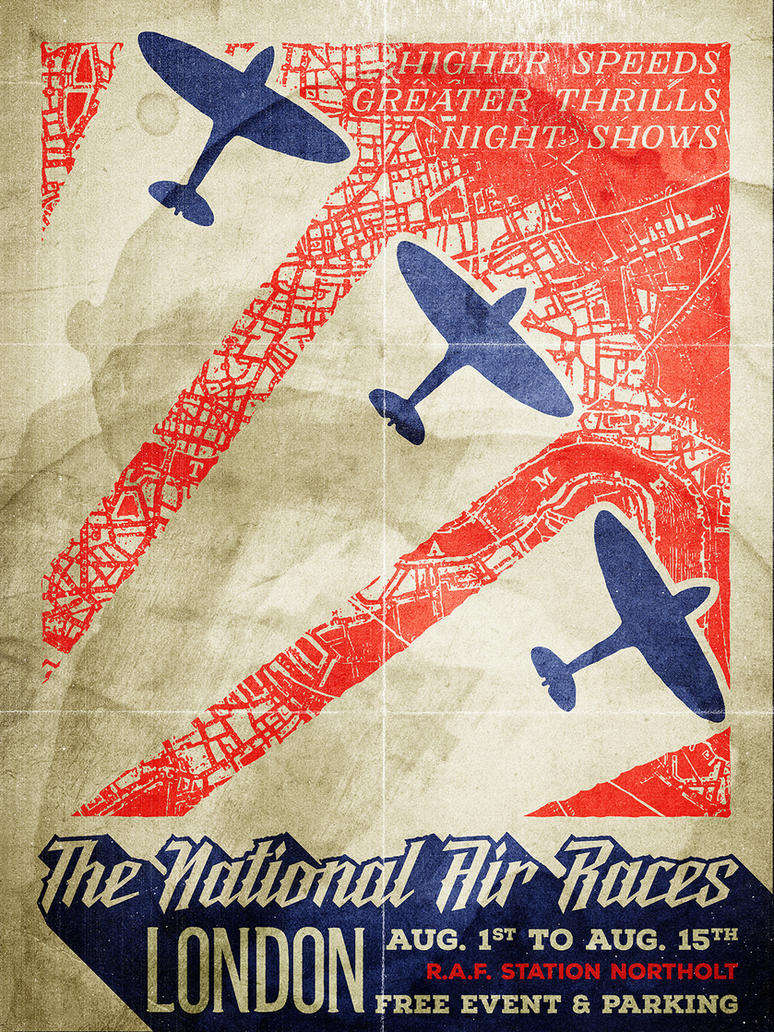 Poster design tutorial - A Gritty Vintage Airshow Poster Design Tutorial By Simonh4