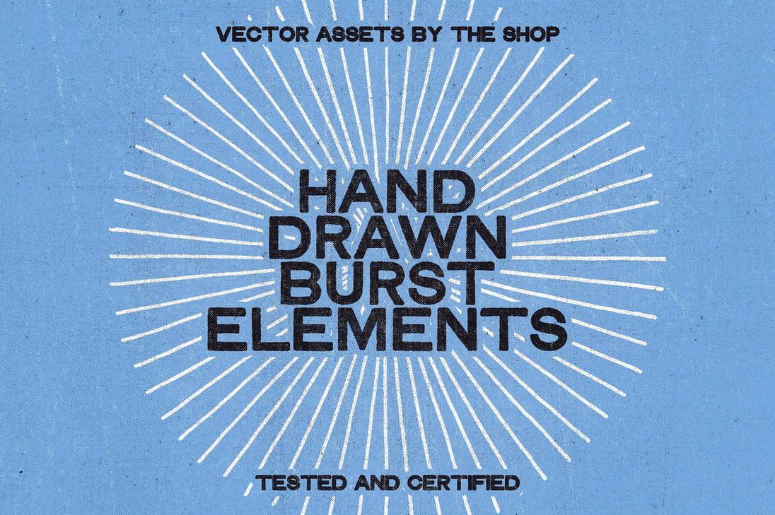 28 hand-drawn burst elements by simonh4
