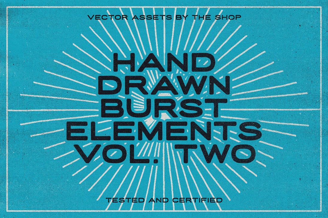36 hand-drawn burst elements by simonh4