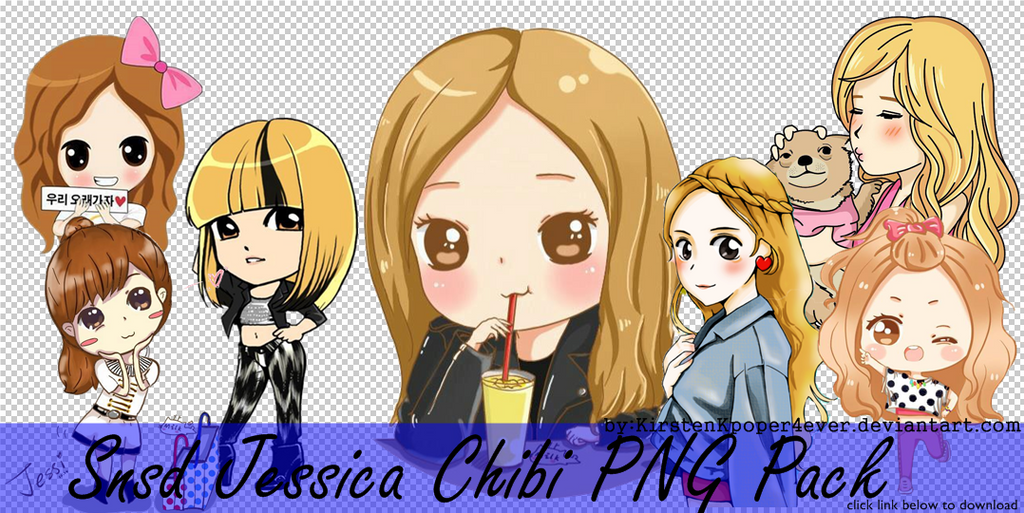 Snsd Jessica Chibi PNG Pack by KirstenKpoper4ever