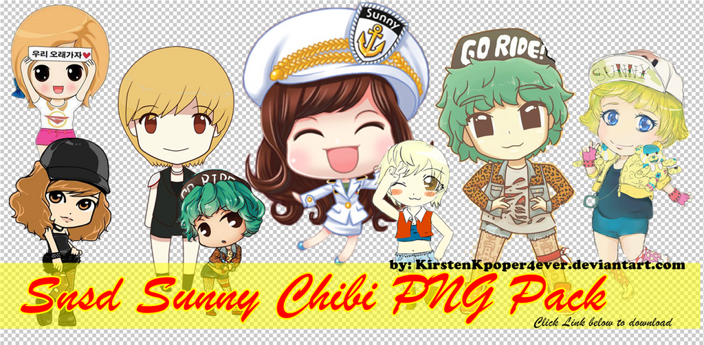 Snsd Sunny Chibi PNG Pack by KirstenKpoper4ever