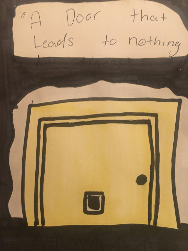 A door that leads to nothing by 1drawingFire1
