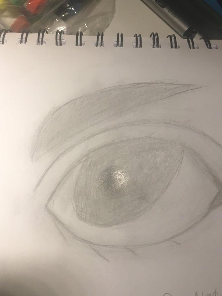 Realistic eye by 1drawingFire1