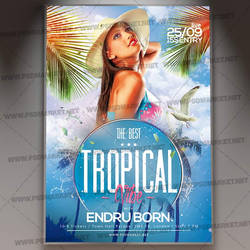 Tropical Vibe Flyer - PSD Template by adminpsdmarket