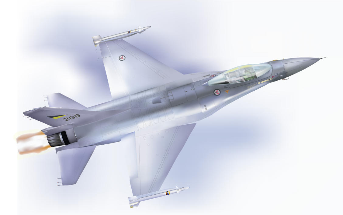 F16 Fighting Falcon by wakdor