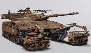 IDF Merkava II  MBT by wakdor