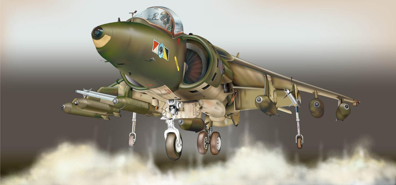 Harrier GR.Mk5 by wakdor