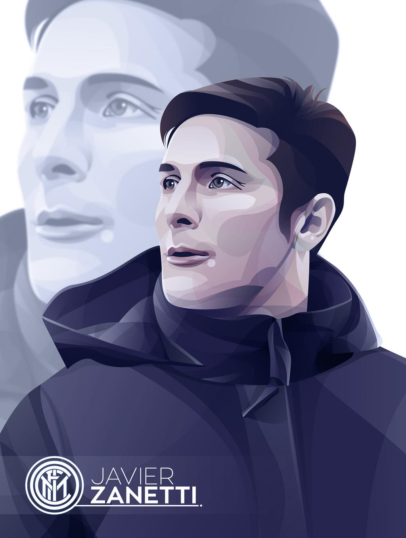 Javier Zanetti Vector by AvisUbay on DeviantArt