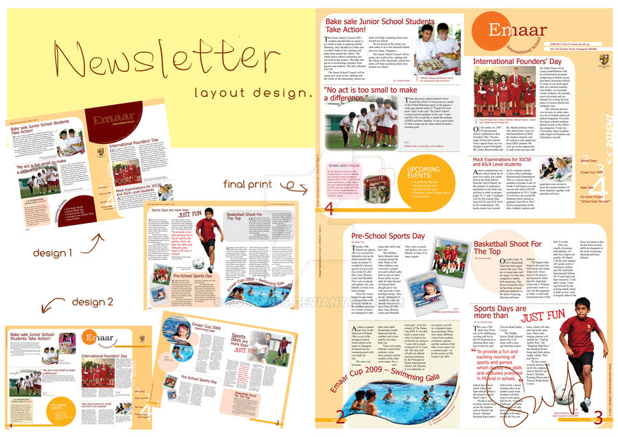 newsletter layout design by sockying