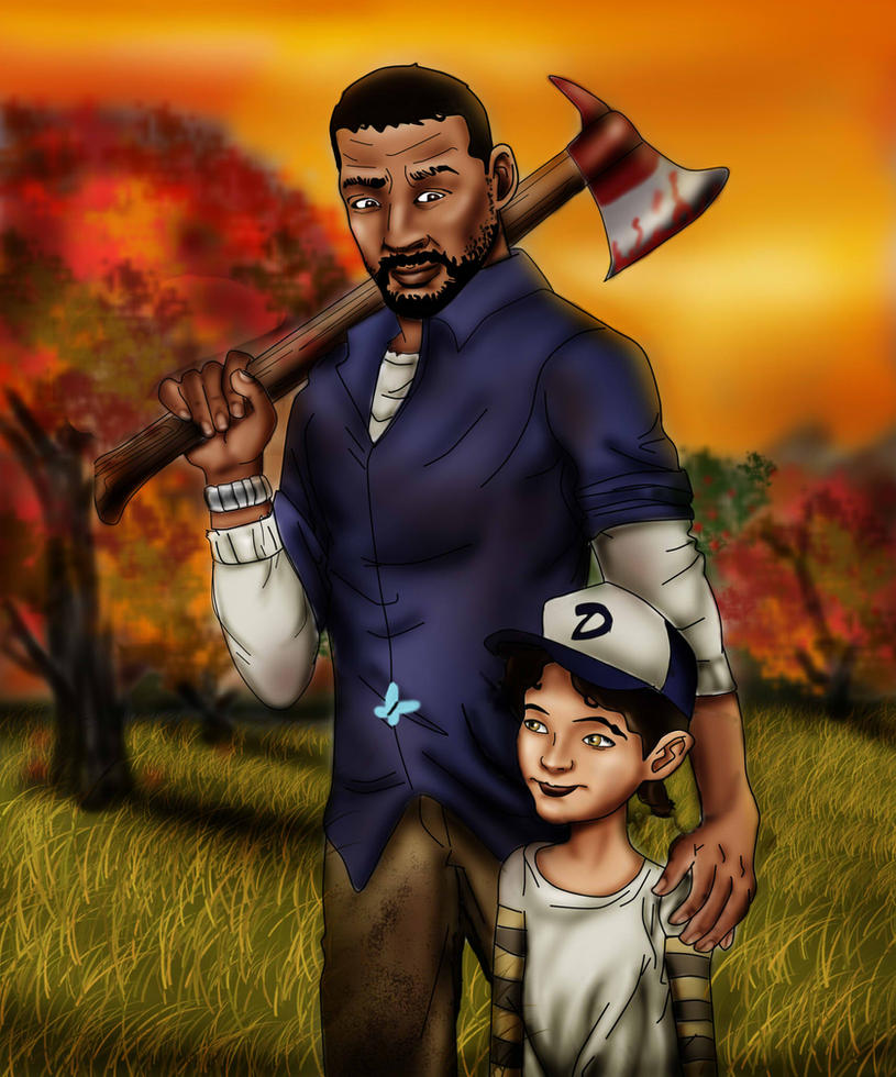 The Walking Dead: Lee And Clementine By Axels-inferno On