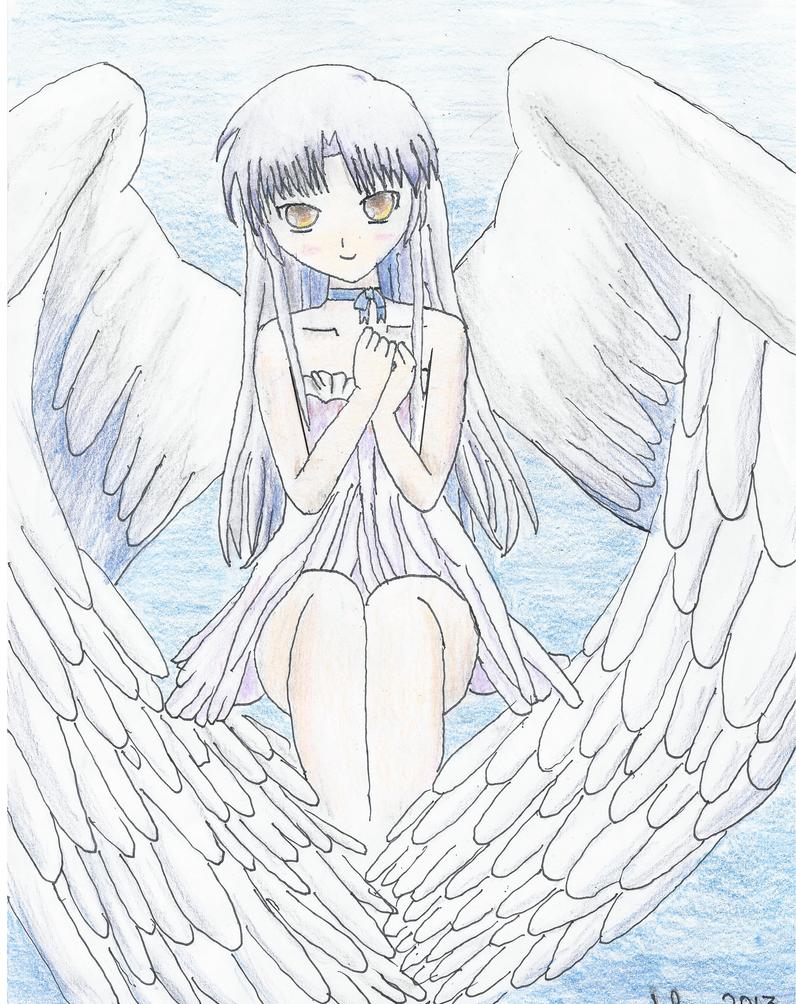 Tachibana Kanade (angel) by XblueXwoodXelfX