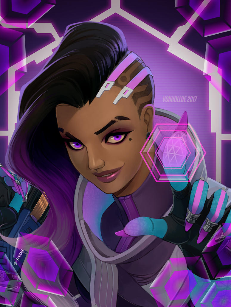 Sombra Comic cover clean by VonHollde