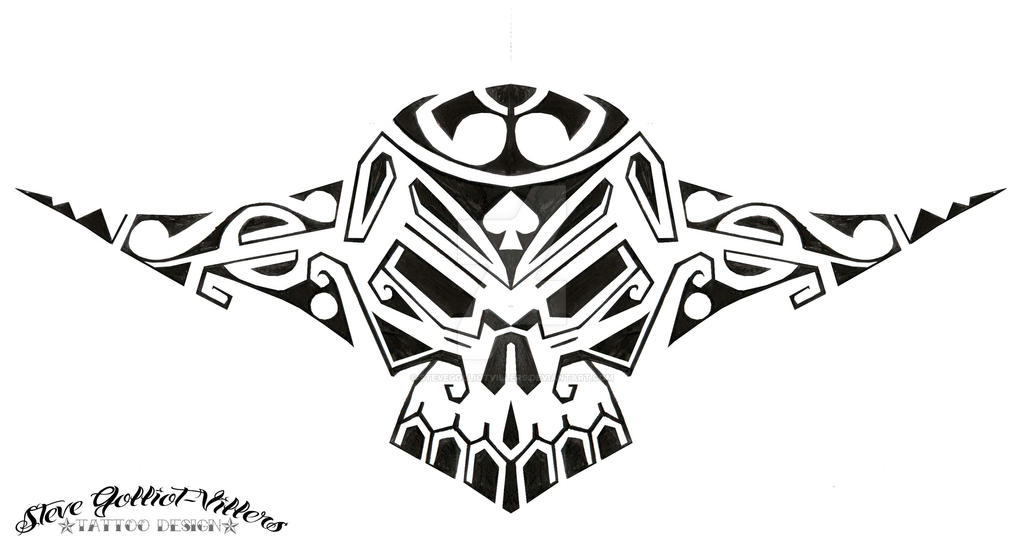 neo polynesian skull by stevegolliotvillers on deviantart. Black Bedroom Furniture Sets. Home Design Ideas