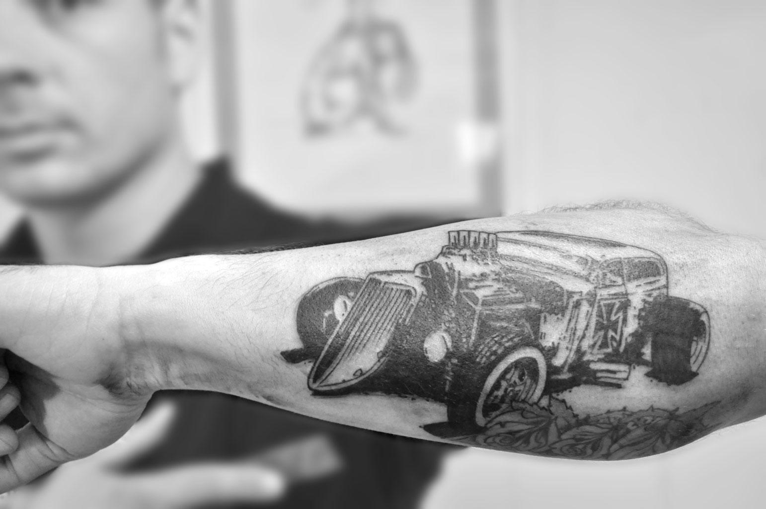 Hot rod by stevegolliotvillers on deviantart for Hot rod tattoos