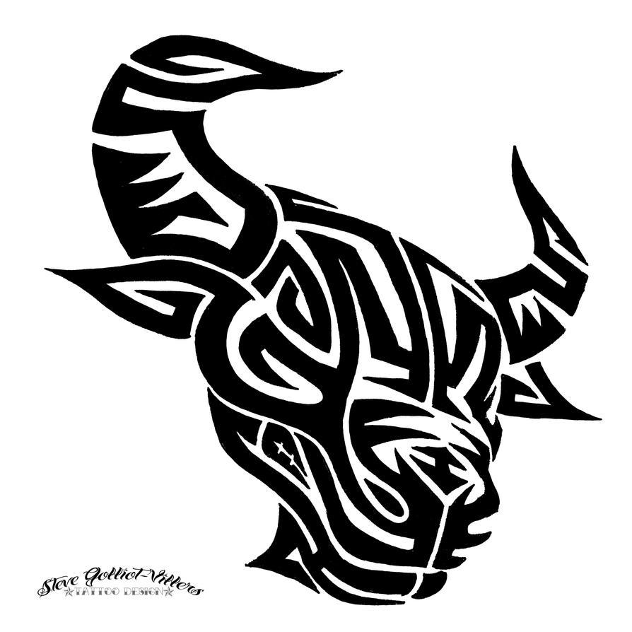 Tribal Bull by S...Dragon Boat Head