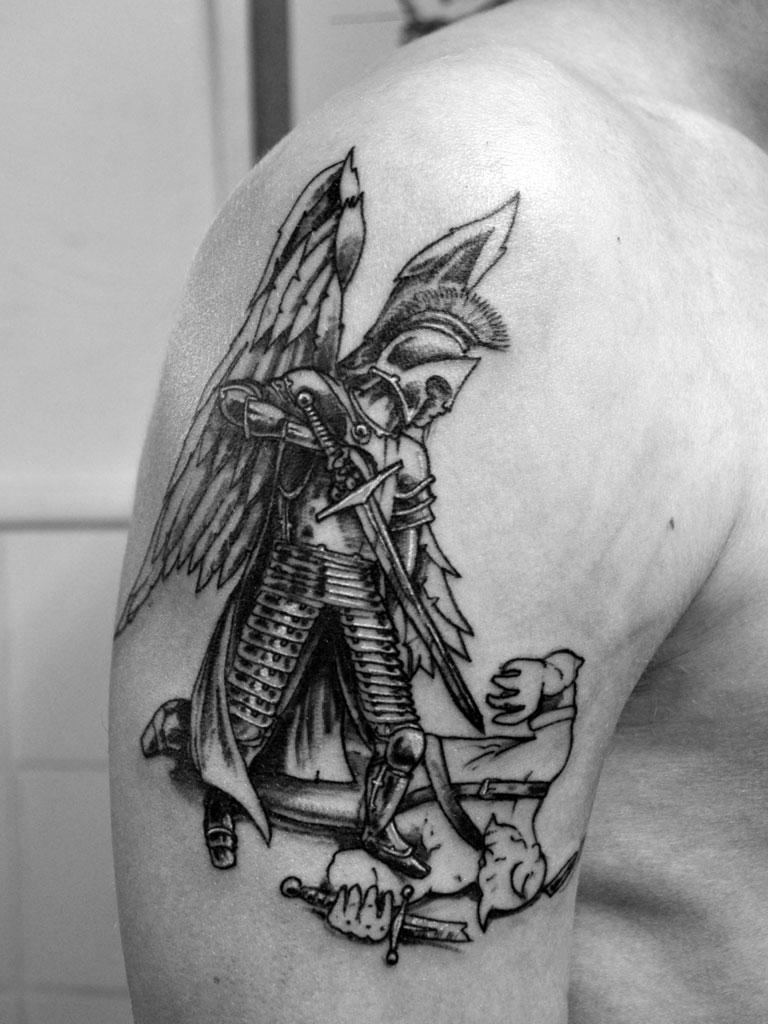 St george by stevegolliotvillers on deviantart for St george tattoo