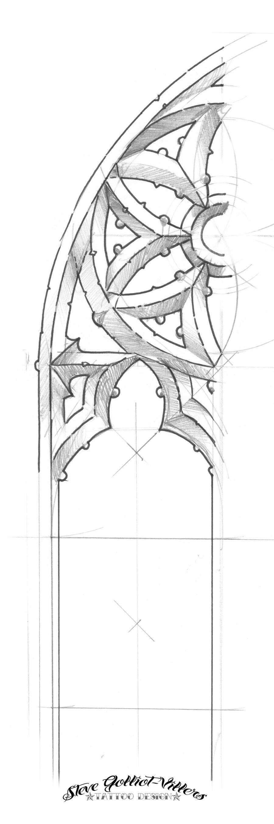 Gothic Arch Sketch By SteveGolliotVillers