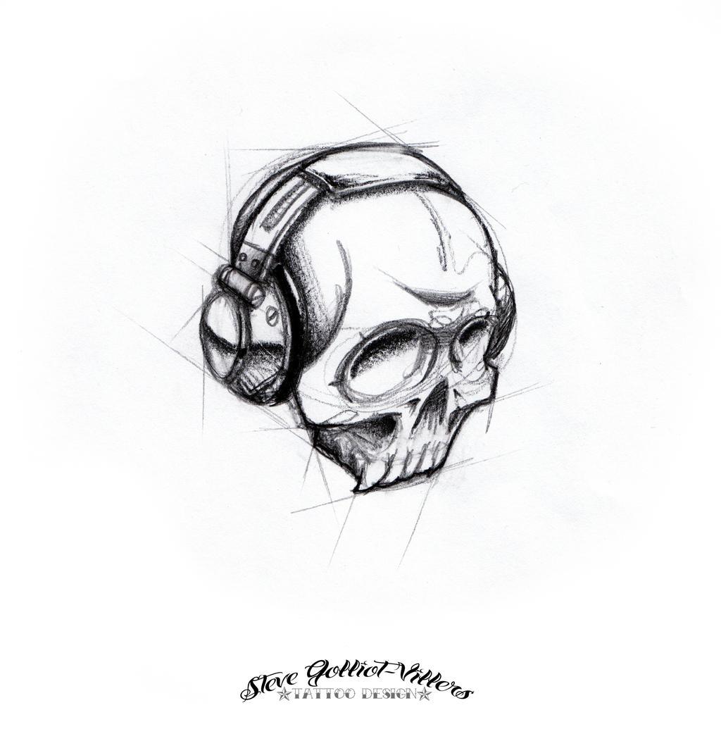 skull dj by stevegolliotvillers on deviantart. Black Bedroom Furniture Sets. Home Design Ideas