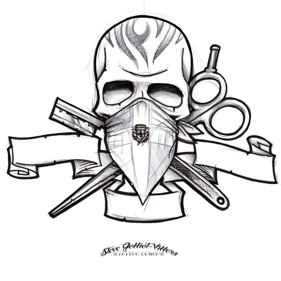 Barber Tattoo Designs