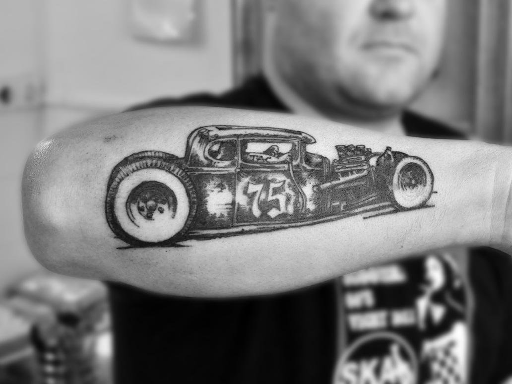 Hot rod tattoo by stevegolliotvillers on deviantart for Hot rod tattoos