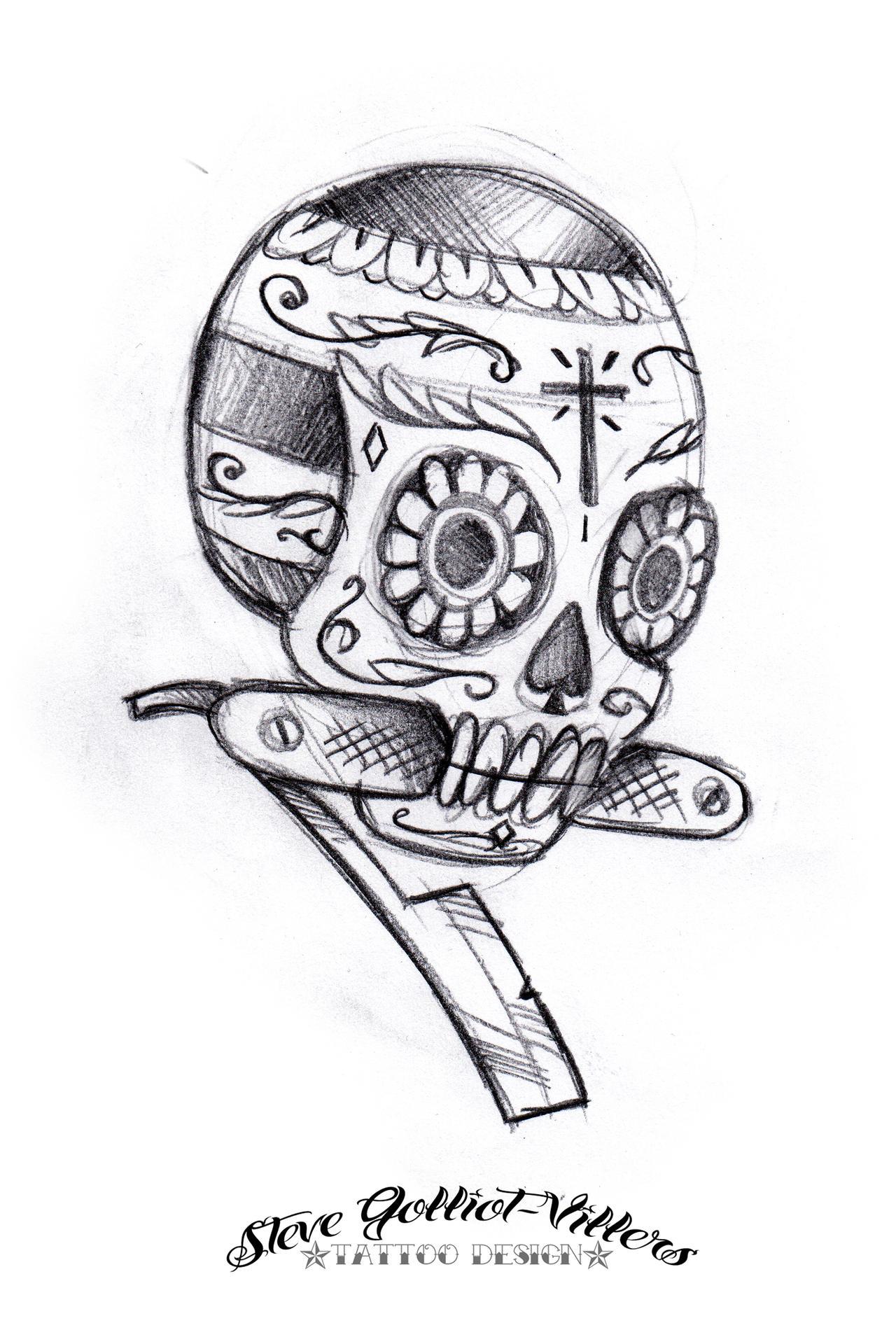 skull razor by stevegolliotvillers on deviantart. Black Bedroom Furniture Sets. Home Design Ideas