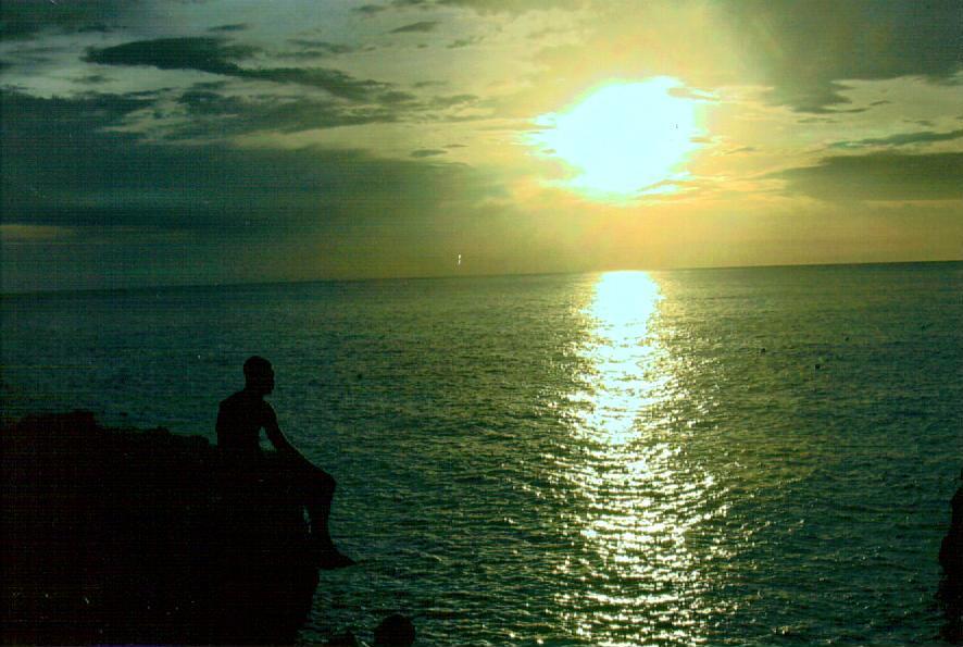 Jamaica sunset, Rick's Cafe by Bartimaeus-the-Djinn