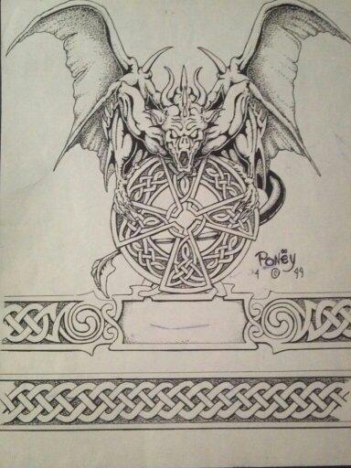 Gargoyle Arm Band Tattoo Design By Poney0 On DeviantArt