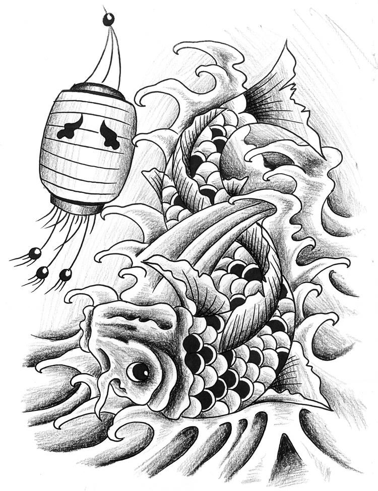 Koi Art Sketch Koi Sketch by Sethdavidson