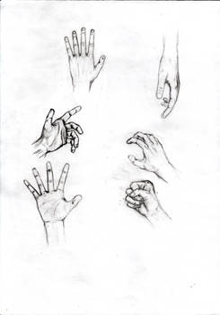 Drawing hand, example