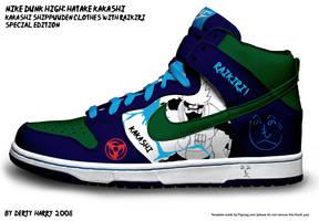 Nike Dunk High: Hatake Kakashi by DertyHarry