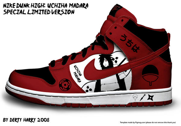 Galerie d'images Naruto - Page 5 Nike_Dunk_High__Uchiha_Madara_by_DertyHarry