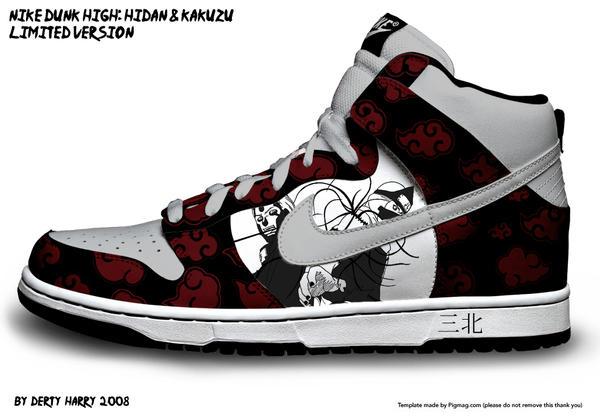 Nike dunk high madara uchiha for Schuhschrank nike