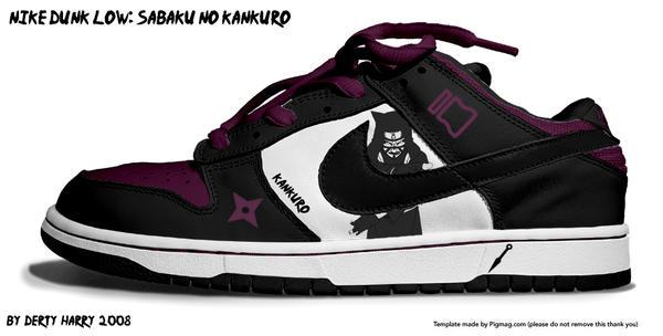 Nike Dunk Low:Sabaku noKankuro by DertyHarry