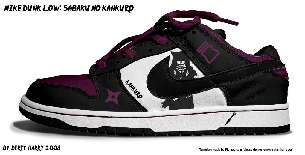 http://fc33.deviantart.com/fs27/f/2008/146/5/9/Nike_Dunk_Low_Sabaku_noKankuro_by_DertyHarry.jpg