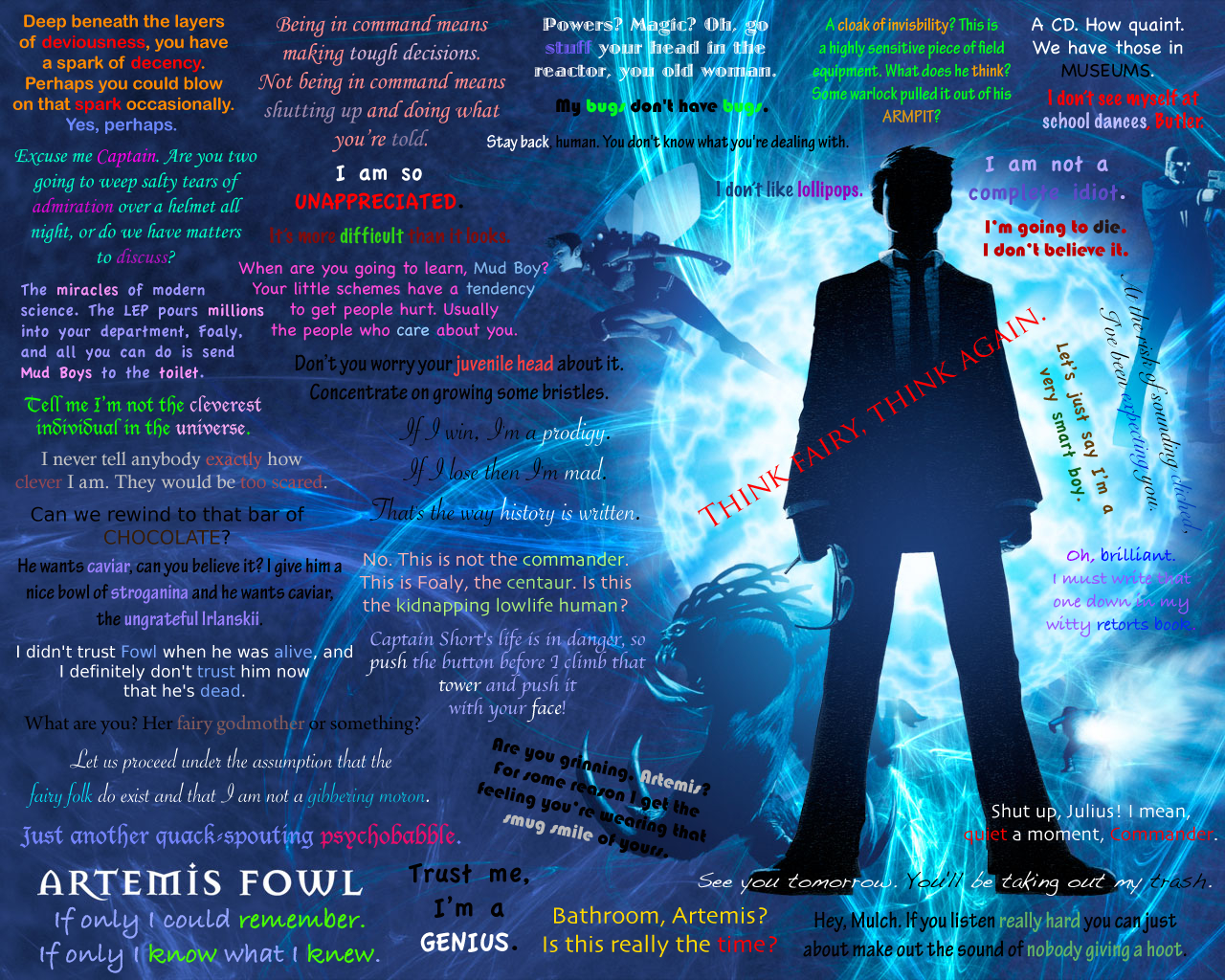 Artemis Fowl Quotes Wallpaper by porpierita