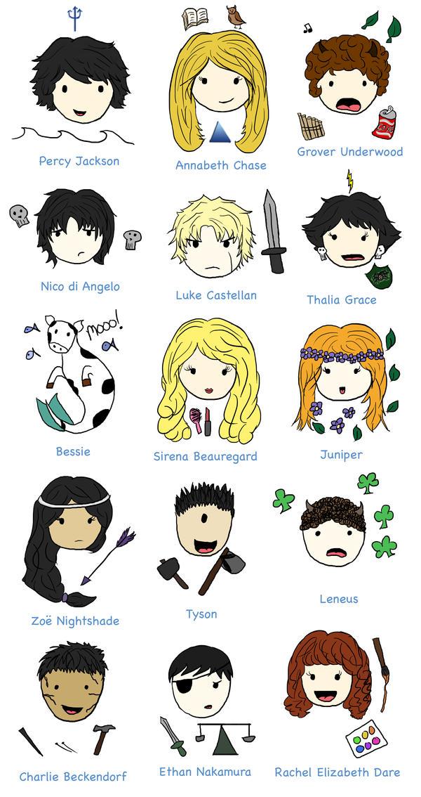 PJATO Characters by porpierita on DeviantArt