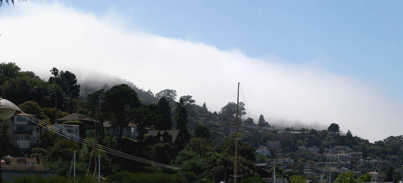 Clouds coming over Sausalito by Dancing-Treefrog